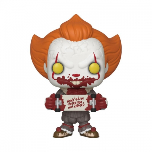Stephen Kings Es 2 POP! Movies Vinyl Figur Pennywise Skateboard 9 cm