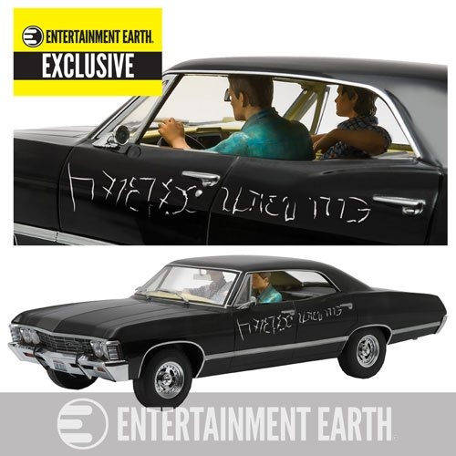 Supernatural 1967 Chevrolet Impala Sport Sedan 1:18 Scale Die-Cast Metal Vehicle with Sam and Dean Figures EE Excl.