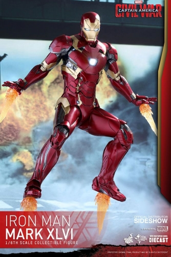 Captain America Civil War Movie Masterpiece Diecast Actionfigur 1/6 Iron Man Mark XLVI 32 cm