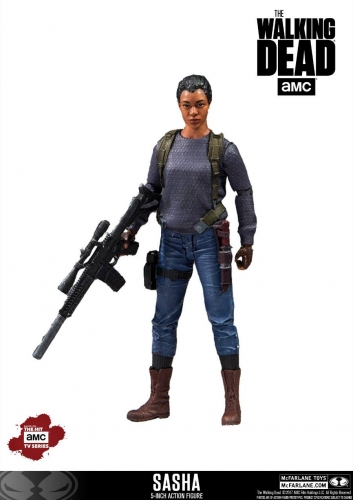 The Walking Dead TV Version Actionfigur Sasha 13 cm