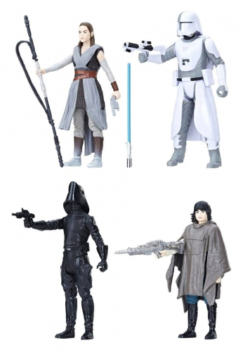 Star Wars Episode VIII Force Link Actionfiguren 4er-Pack 2018 Battle on Crait 10 cm