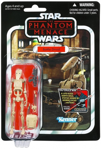Star Wars The Phantom Menace Vintage Collection 2012 Battle Droid Action Figure VC78