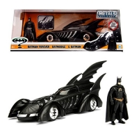 Batman Forever Batmobile 1:24 Scale Die-Cast Metal Vehicle with Batman Figure