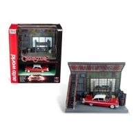 Christine Darnell's Garage with 1:64 Scale 1958 Plymouth Fury Diorama Set
