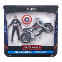 Captain America Civil War Marvel Legends 3 3/4-Inch Action Figure and Motorcycle