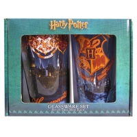 Harry Potter Hogwarts Pint Glass 2-Pack