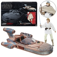 Luke Skywalker's X-34 Landspeeder mit Luke Skywalker Actionfigur