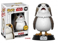 Star Wars Episode VIII POP! Vinyl Wackelkopf-Figur Porg Chase Version