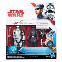 Star Wars: The Last Jedi Finn (First Order Disguise) vs. Captain Phasma 3 3/4-Inch Figures - Exclusive