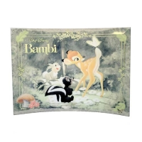 Bambi and Butterfly Curved Glass StarFire Print